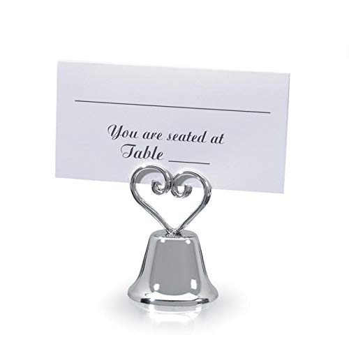 Bulk Buy: Darice DIY Crafts Victoria Lynn Place Card Holder Bell Silver 2.5 inches 12 pieces (1-Pack) 1404-01A