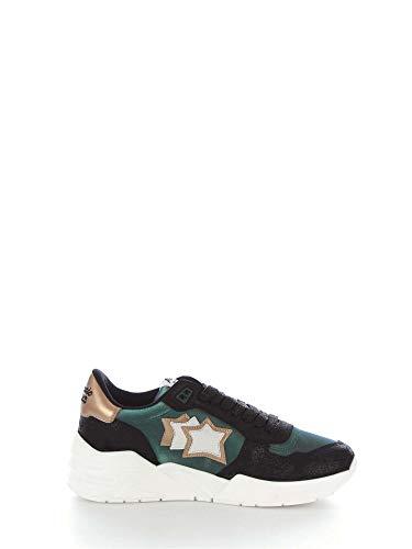 Sneakers Verde Tessuto Donna Stars Venusvnsn1208 Atlantic FqBCS