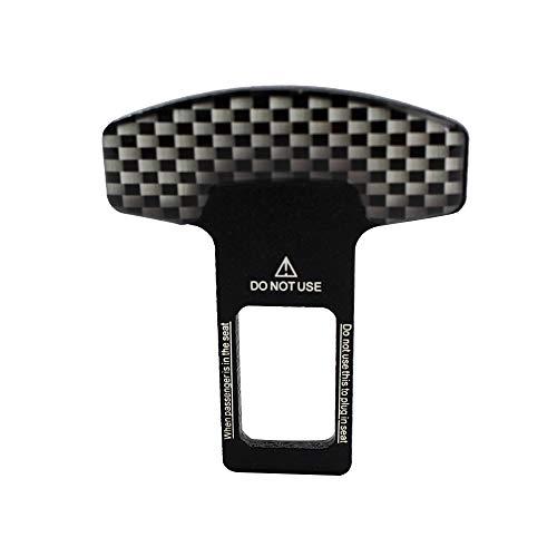 Festnight Safety Seat Belt Buckle Clip Universal Vehicle Mounted Carbon Fiber Lock Belt Adjustment Socket Buckle Clasp Insert Car Safety Belt Clip Car-Styling 1pcs