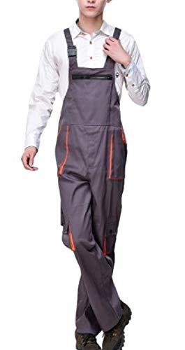 [해외]Abetteric 남성 서 스 펜더 포켓 트림 워크 웨어 전체 점프 수트 팬츠 / Abetteric Men Suspenders Pocket Trim Workwear Overall Jumpsuit Pants