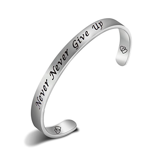 Stainless Gold Peace Cuff Bangle - 4