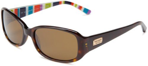 Kate Spade Paxtons Rectangular Sunglasses,Tortoise Stripe,53 (Designer Prescription Sunglasses)