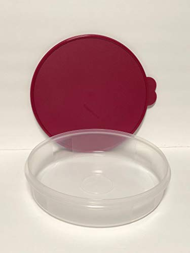Tupperware 12 Inch Round Pie Carrier Taker with Bordeau Seal by Tupperware... (Image #1)
