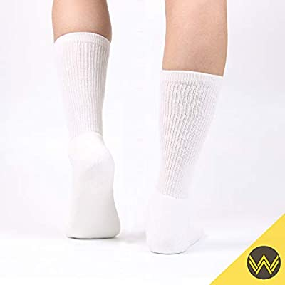 WANDER Women's Athletic Crew Socks 8 Pairs Cushion Running Socks for Women Sport Wicking Cotton Socks 7-10/10-14: Clothing