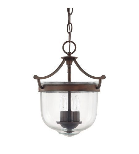 Capital Lighting 9411BB Covington 3-Light Foyer Fixture, Burnished Bronze Finish with Clear Glass