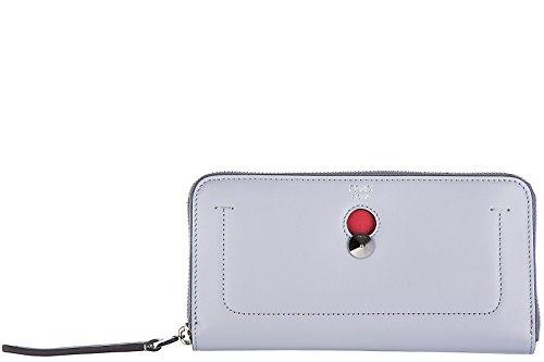 Fendi women's wallet leather coin case holder purse card bifold zip around dotco