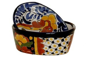 Talavera Oval Soap Dish With Drainage Cover