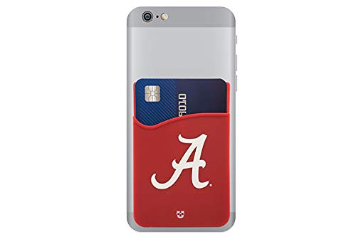 Alabama Crimson Tide Adhesive Silicone Cell Phone Wallet/Card Holder for iPhone, Android, Samsung Galaxy, Most Smartphones]()