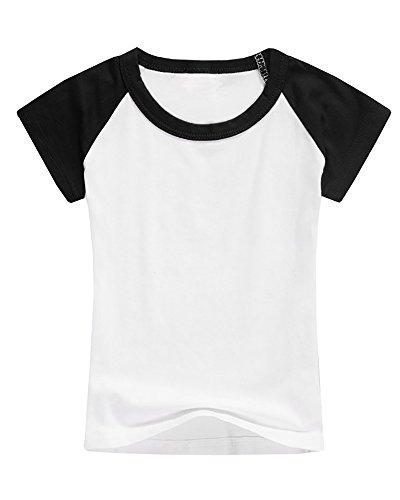 a48ba7dd005 GAMISOTE Boys Raglan Baseball Tee Girls Short Sleeve Jersey T Shirts Unisex  Baby Kid Tops