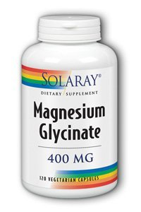 Solaray Magnesium Glycinate Supplement 400 mg 120 Count