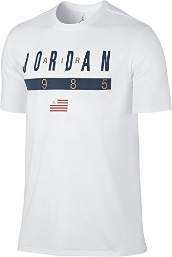 Nike mens JORDAN AMERICANA TEE 815519-100_2XL - WHITE/SQUADRON BLUE