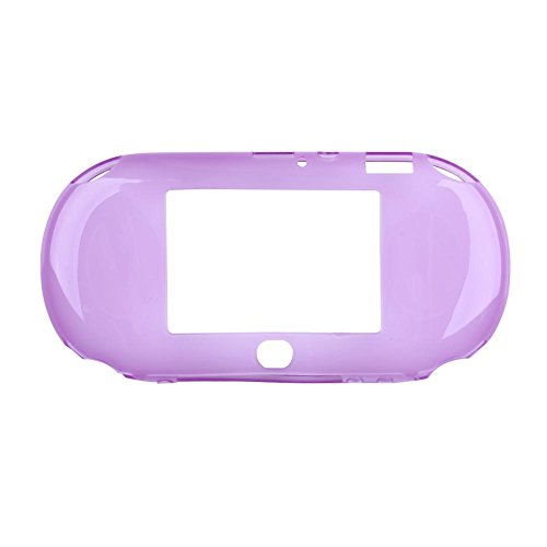 Vanpower TPU Rubber Skin Protector Cover Case Shell for Play Station PS Vita PSV 2000 (Purple) (Cover Psp Crystal Protective)