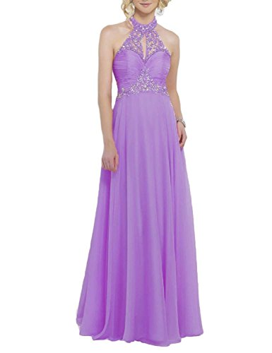 Evening Prom 2018 Chiffon BessWedding Beading Purple Bridesmaid Long Women's Dress BPS176 Gowns 4w8WqHt