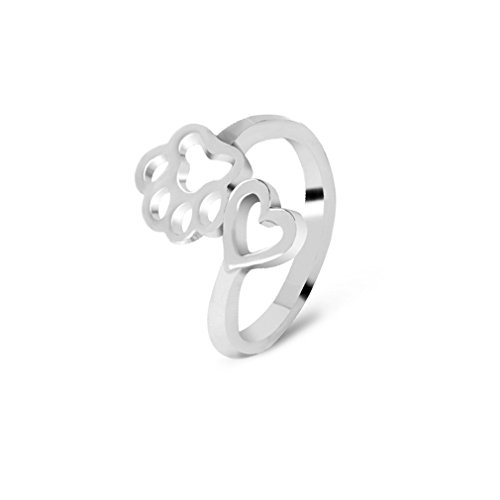 UNKE Paw dog ring, Dog jewelry, Paws ring ,Animal jewelry, Unique Wedding (Toe Animal)