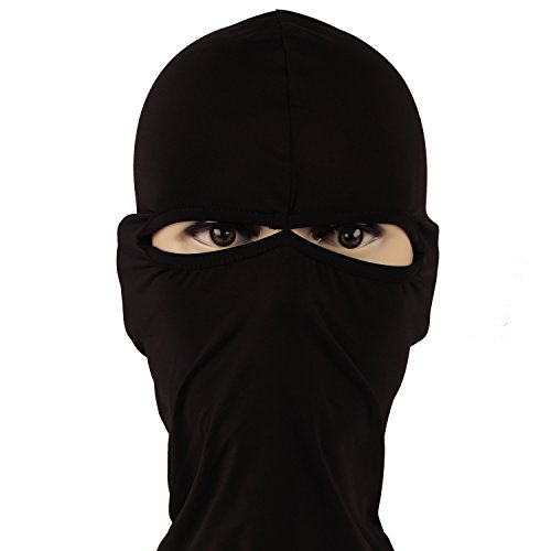 Rioriva Black Hat Scarf Balaclava Hood Cap Full Face Mask Neck Cover Winter Sports Warmer (Scorpion Face Mask)
