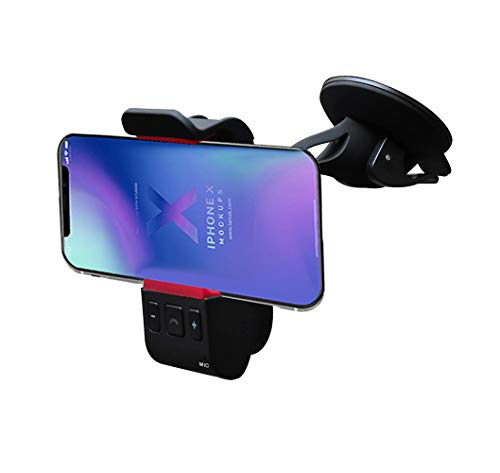 Car Kit,Bluetooth Car Audio Speakerphone/Receiver,in Car Hands Free Bluetooth Cell Phone Holder Kit for iPhone X 8 7 6 Plus & Galaxy S9 S8 S7 Note 8 7 6 and More(Windshield) ()