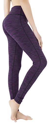 QUEENIEKE Women Power Flex Yoga Leggings Workout Tights Running Pants Size M Color Space Dye Purple