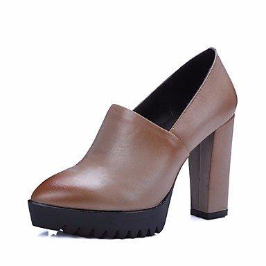 Botas de mujeres PU Confort Casual Primavera Almendra plana negra Black