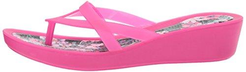 Imprimer Isabella Candy tropical À Sandales Compensés Pink Pour Femme Talons Crocs wSH1qt1