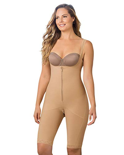 Leonisa Womens Braless Body Shapewear with High Compression Thighs Control Slimmer