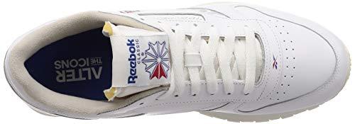 Mu da per Leather uomo bianche Cl Reebok ginnastica Scarpe UTZqx