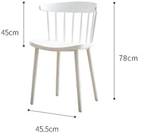 CHAIR Chaises, Chaise Moderne Tabourets-Style Européen, Simple En Plastique Chaise de Loisirs, Maison Pour Discuter Fauteuil À Manger, Accueil Pratique,Jaune