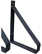 Industriële Plankdrager 20 cm klassiek - Staal - Mat zwarte Coating - Ambachtelijk - Per stuk