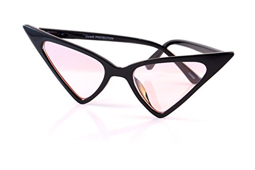 FBL Extreme High Pointed Wide Witch Cat-Eye Tinted Sunglasses A215 -