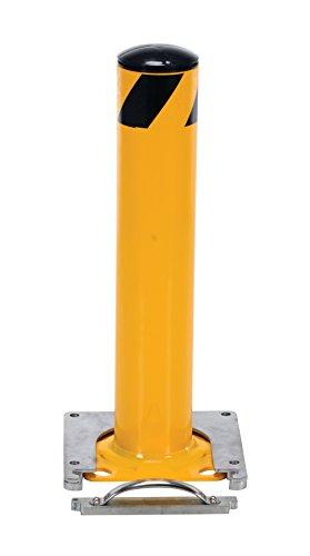 Vestil BOL-RF-24-4.5 Surface Mounted Removable Steel Pipe Safety Bollard, 4-1/2'' OD, 24'' Height by Vestil (Image #3)