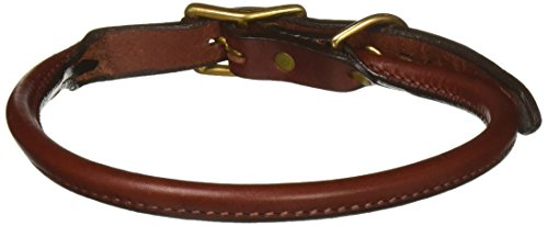 Rolled Leather Collar (Mendota Products Standard Rolled Dog Collar, 3/4-Inch by 22-Inch, Chestnut)