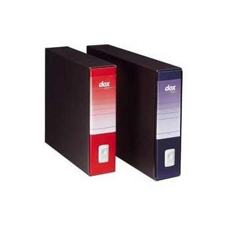 Rexel D26406 Dox 4 Registratore a Leva, Formato A4, Giallo, Confezione da 6