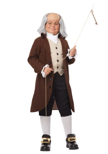 (California Costumes Colonial Man/Benjamin Franklin Child Costume,)