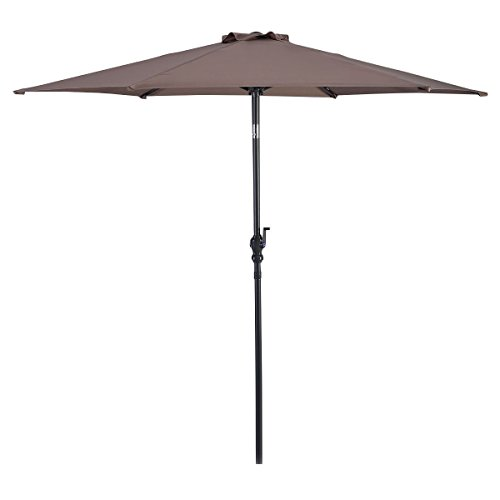 Giantex 10ft Patio Umbrella 6 Ribs Market Steel Tilt w/Crank Outdoor Garden (Tan)
