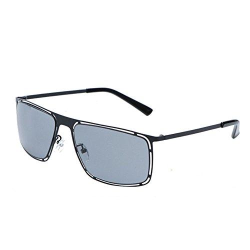 gray mode carrées métalliques la soleil femmes de lunettes lunettes hommes et protection décoratifs soleil de Uv400 Lunettes de qAR0wT