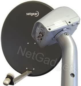 Satgear - Antena parabólica motorizada (80 cm, con ...