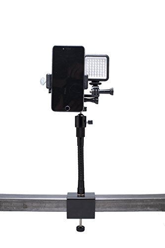 Livestream Gear - Desk Clamp Setup with Dimmable LED Light for Live Stream, Videos, or YouTube. Fits Larger Sized Devices, and Dimmable LED Light to Adjust Brightness. (Clamp w/Lg. Holder) by Livestream