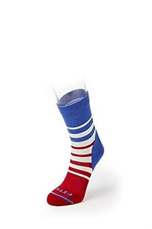 FITS Light Hiker Mini-Crew Socks, Natural/Classic Blue, S