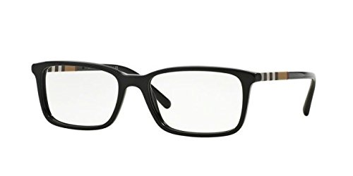 Burberry Eyeglasses BE2199 BE/2199 3001 Black Full Rim Optical Frame - Glass Burberry
