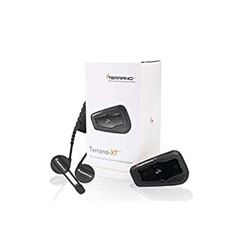 Image of Bikes Terrano XT - The Perfect Cycling Bluetooth Headset, Four-Way Intercom, Music, Radio, Audio Sharing, Two-Channels Phone/GPS Pairing, Noise Filtering, and Much More (Single Pack)