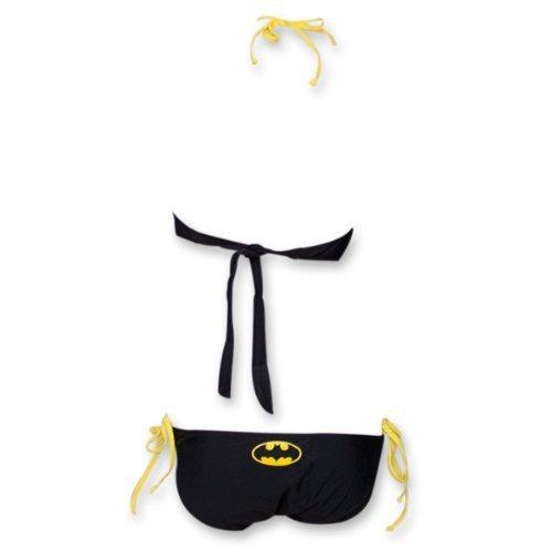 DC Comics Batman Logo Bandeau Monokini One-Piece Black Ladies Swimsuit at Gotham City Store