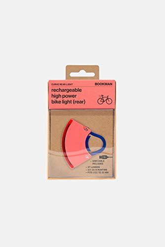 Bookman Curve Rear Bike Light One Size Neon Coral Pink/Dark Blue (Bookman Bike Lights)