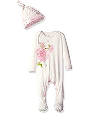 Baby Footed Coverall and Hat Set