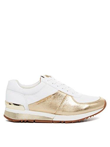 e8b43f53f03d Michael Kors Women Shoes Sneakers Allie Wrap Trainer Mettalic ...