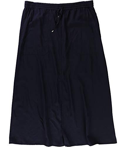 (Ralph Lauren Womens Twill Cargo Maxi Skirt Blue L )