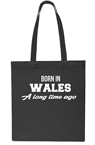 Time Gym Beach x38cm Black Black Tote Ago 10 42cm Bag Wales In Long Born A Small litres Shopping w8IqzI