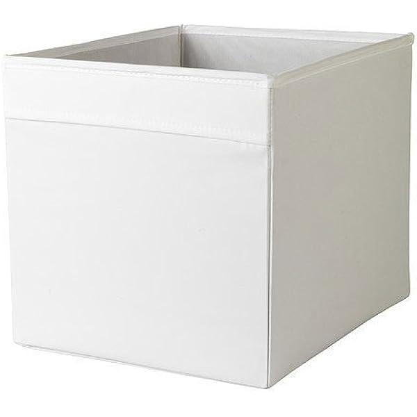 cajas rojas almacenaje ikea tela cremallera