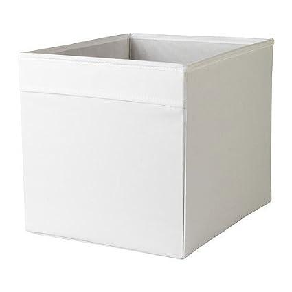 Ikea Caja, Poliéster, Blanco, 33x38x33 cm