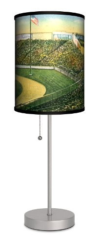 Lamp-In-A-Box SPS-TRV-YANKE Travel ''Yankee Stadium Postcard'' Sport Silver Lamp by Lamp-In-A-Box