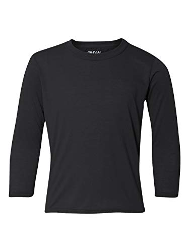 GILDAN Youth Core Performance Long-Sleeve T-Shirt>XS Black 4