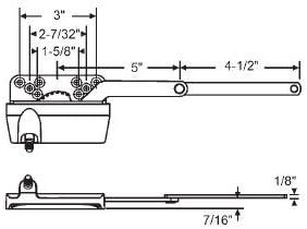 Left Hand STB Stud Bracket for Dyad Casement Operator